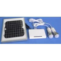 Portable solar home system 5W solar panel  Lithium battery, with 2pcs LED bulbs and USB mobile charging Manufactures