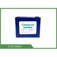 High Energy Lithium Rechargeable Lifepo4 Battery 3.2V 100Ah For Solar Energy Storage EV Manufactures