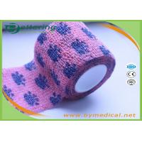 Non Woven Self Adhesive Bandage Roll , Coflex Pink Cohesive Tape For Dog / Cat / Horse Manufactures