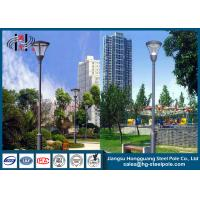 China Hot Roll Steel Q235 Powder Coated RAL Outdoor Street Lamp Post 6 - 12m on sale