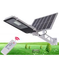 China 10W 30W 50W Outdoor IP65 Integrated Solar Powered Parking Lot Lights With Remote Control on sale