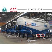 V Type 2 Axles Bulk Cement Tanker Trailer With Diesel Engine 25-40 Tons Payload Manufactures