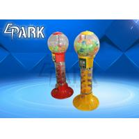China 1 Player Amusement Game Machines , Capsule Toy Coin Vending Machine Red And Yellow Blue on sale