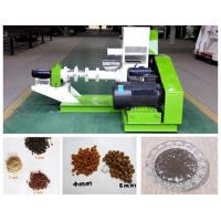 China Farm Small Scale Fish Food Extruder Machine With PLC Electrical Control on sale