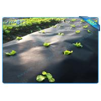 Black Garden Weed Control Fabric For MaintainTemperature To Benefit Healthy Growth Manufactures