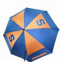 62-inch Licensed Golf Umbrella, OEM Orders are Welcome, Automatic Manufactures