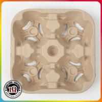 4 Up Recycled Paper Pulp Cup Tray Manufactures