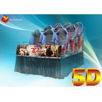 3D Glasses Dynamic Rain Fire 5D Movie Theater With Body Motion Seater Manufactures