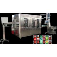 Ss Carbonated Water Production Plant / Fizzy Drink , Isobaric Water Filling Machine Manufactures