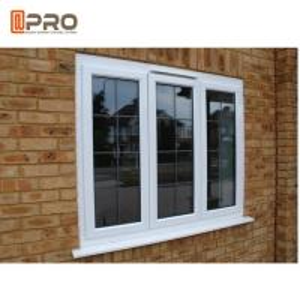 White Powder Coating Glass Aluminum Sash Windows Energy Efficient Manufactures