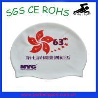 China Summer popular soft healthy silicone swim cap.silicone swim cap on sale