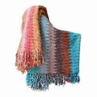 Acrylic Crocheted Throws, Measures 127 x 152cm + 10 x 2cm, Weighs 700g Manufactures