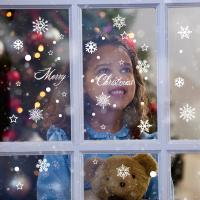 Self Adhesive Christmas Snowflake Stickers , Non Toxic Pvc Wall Sticker Easy To Operate Manufactures