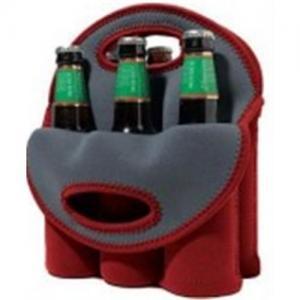 Neoprene Wine Bottle Cooler/Holder/Carrier, 6-bottle Cooler Bag Manufactures