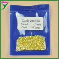 Zircon Wholesale 1.7mm loose round brilliant cut man-made golden yellow diamonds Manufactures