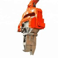 No Damage Hydraulic Pile Hammer High Frequency Excavator Mounted Vibratory Hammer Manufactures
