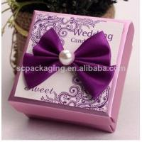 Quality fabric covered wedding invitation boxes/ wedding favor boxes for sale