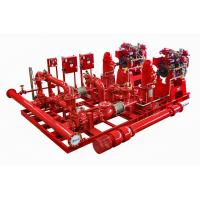 China UL FM NFPA20 Vertical Turbine Fire Pump Skid Mounted Fire Pump Packaged Sea Water on sale