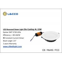 SMD 5730 LED Recessed Downlight 15 Watt 6400K Color Temperature Manufactures