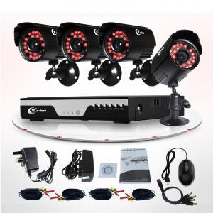 H.264 Wireless Home CCTV Camera Kits 600TVL IR HMDI 4 Camera Security System Manufactures