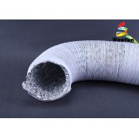 Industrial White Fire Rated Flexible Ducting Aluminum PVC Lightweight Manufactures