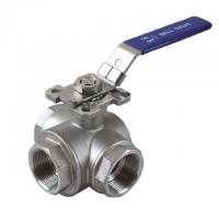 "Buy cheap 1/2 to 2 inch Stainless Steel 304 316 flow Control ""T"" ""L"" 3 way diverter ball from wholesalers"