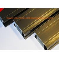 Anti Corrosion Aluminium Door Profiles Extrusions Electrophoresis Champagne Color Manufactures