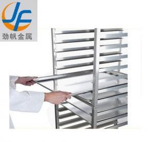 Knocked Down Bakery Rack Trolley Equipment 201 Stainless Steel Bun Pan Manufactures