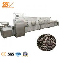 304 Stainless Steel Industrial Continuous Microwave Oven For Fly Larvae