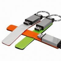 China USB Memory Sticks/Deluxe Feel Memory Drives, Show Some Style with Leather on sale