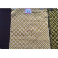 Plaid Tweed Jacquard Wool Fabric Yellow White Soft Comfortable In Stock Manufactures