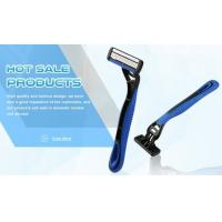 Portable Four Blade Razor No Electric With Comfortable Rubber Handle Manufactures