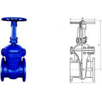 China Electric Actuated Water Cast Steel Gate Valve 150lb - 1500lb Pressure on sale