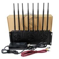 China Mobile Office Cell Phone Signal Jammer , 3G 4G Cell Phone Signal Blocker Device 8 Antennas on sale
