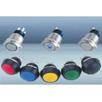 Small Metal Illuminated Push Button Switch / Momentary Stainless Steel Pilot Light Manufactures