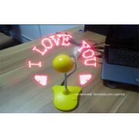 Portable Mini external Laptop Fan Usb  With Programed Message Manufactures