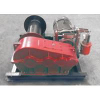 China Smooth Electric Winch Machine With Spooling Drun Or Smooth Drum on sale