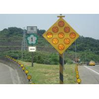 Yellow Solar Powered Traffic Signals , LED Solar Powered Warning Lights Manufactures
