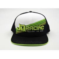 Quality Cool 100% Cotton Printed Baseball Caps Adjustable With Plastic Back Closure for sale