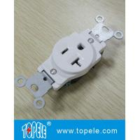 Residential Grade Plastic Single Receptacle / Duplex GFCI Receptacles Wall Socket Manufactures