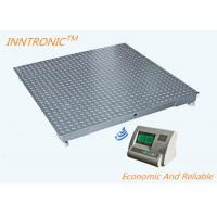 Gray 1.2x1.2m Wireless Floor Scale , Industrial Floor Weighing Scales With Weight Indicator Manufactures