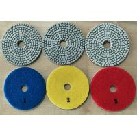 White Type 3 Steps 4 Inch Wet Diamond Floor Polishing Pads For Stone / Marble Manufactures