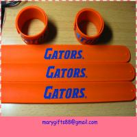 china factory cheap custom silicone slap bracelets Manufactures