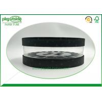 Cosmetics Circular Clear PVC Tubes Packaging Clear Window Paper Tube Manufactures