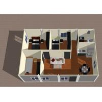 Layout of Energy Saving 2 Bedroom Modular Homes Building With Cookhouse Manufactures