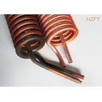 Copper or Copper Nickel Finned Tube Coil as Refrigeration Condenser / Refrigeration Evaporator Manufactures
