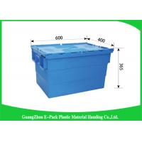 Industrial Storage Plastic Attached Lid Containers For Transportation And Logistics