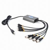CCTV 4-channel Full D1 Real-time USB DVR Card, 4 Audio + 4 Video Output, Supports Phone, PTZ, Email Manufactures