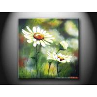 Modern Beautiful Flower Paint Handmade Wall Oil Painting for Bedroom, HHD1096 Manufactures