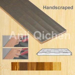China Handscraped Bamboo Flooring on sale